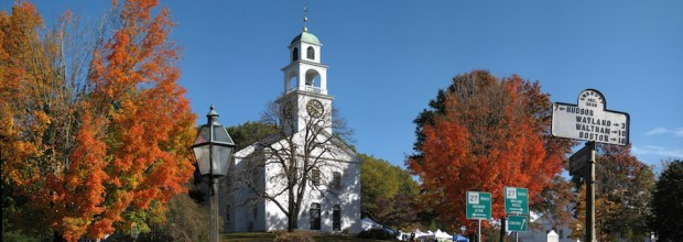 Solar Panel System Installation Has Begun at First Parish of Sudbury, UU, in the historic center of Sudbury, MA